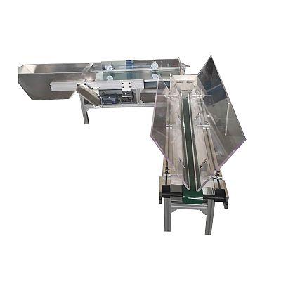 L-shape automatic gathering machine